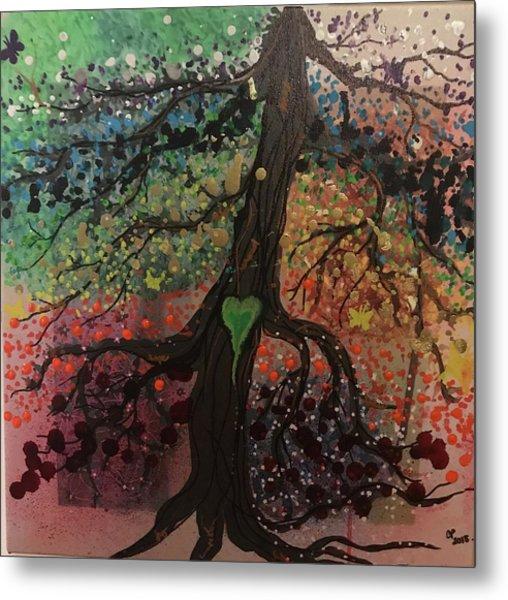 Tree Of Life Chakra Tree Metal Print