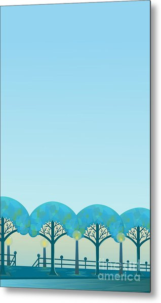 Trees Notepad - Blank Note With Metal Print