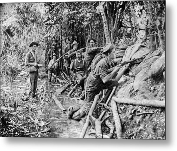 Trench Near Manila Metal Print by Hulton Archive