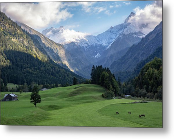 Metal Print featuring the photograph Trettachtal, Allgaeu by Andreas Levi