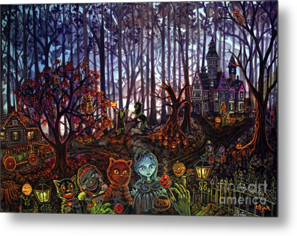 Trick Or Treat Sleepy Hollow Metal Print