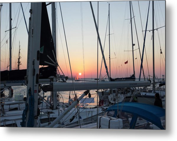 Metal Print featuring the photograph Trieste Sunset by Helga Novelli
