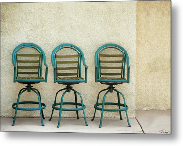 Trio Seationg Metal Print