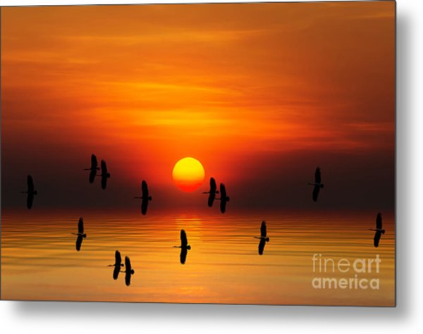 Tropical Colorful Sunset, Songkhla Metal Print by Siriwat Srinuroht