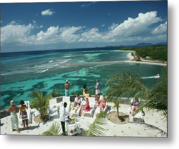 Tropical Mustique Metal Print by Slim Aarons