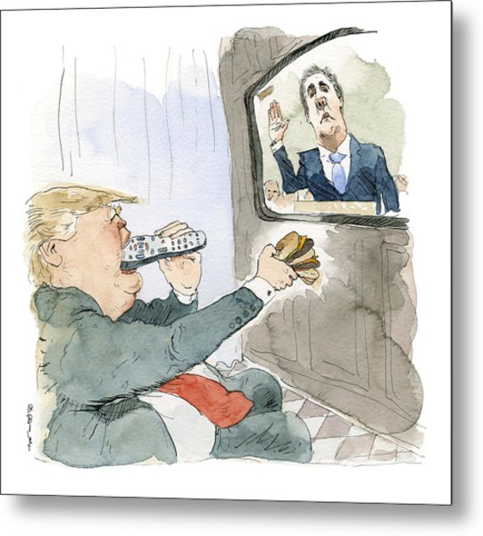 Trump Bites Remote Metal Print by Barry Blitt