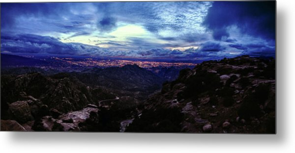 Metal Print featuring the photograph Tucson Twilight Panorama by Chance Kafka