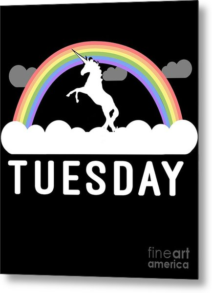 Metal Print featuring the digital art Tuesday by Flippin Sweet Gear