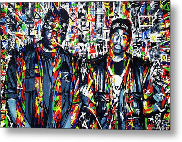 Tupac And Biggie Metal Print