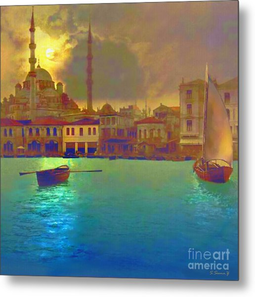 Turkish  Moonlight Metal Print