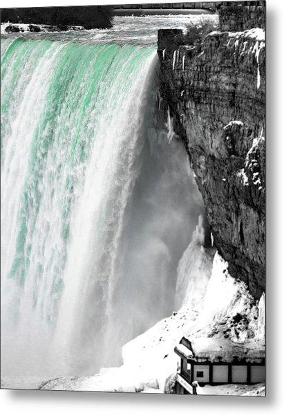 Turquoise Falls Metal Print