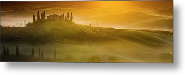 Tuscany In Gold Metal Print