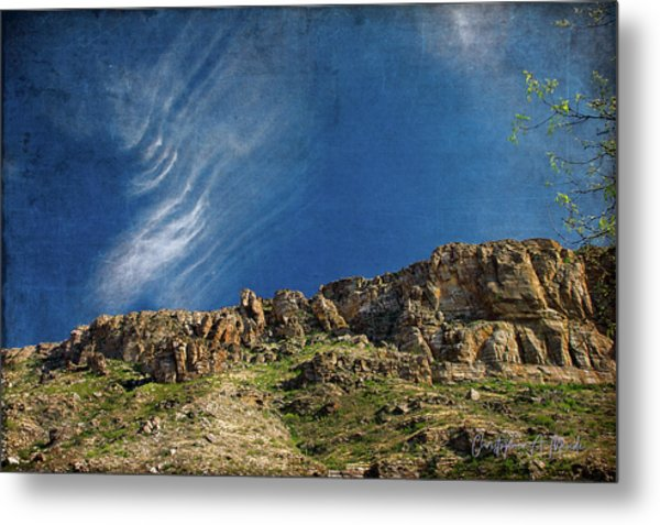 Tuscon Clouds Metal Print