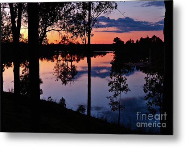 Twilight By The Lake Metal Print
