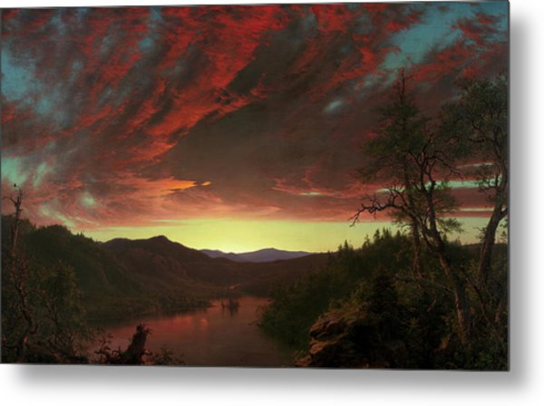Twilight In The Wilderness, 1860 Metal Print