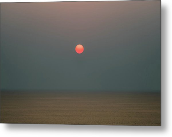 Metal Print featuring the photograph Twilight Sunset At Sea by William Dickman