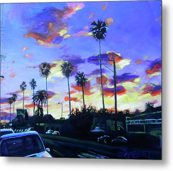 Twilight At Figueroa And 40th  Metal Print