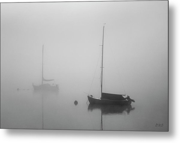 Metal Print featuring the photograph Two Boats And Fog II Bw by David Gordon