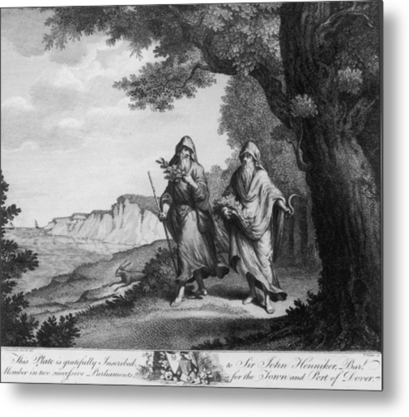 Two British Druids Metal Print by Hulton Archive
