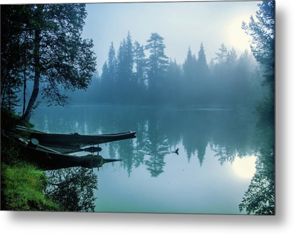 Two Forgotten Boats Metal Print by Baac3nes