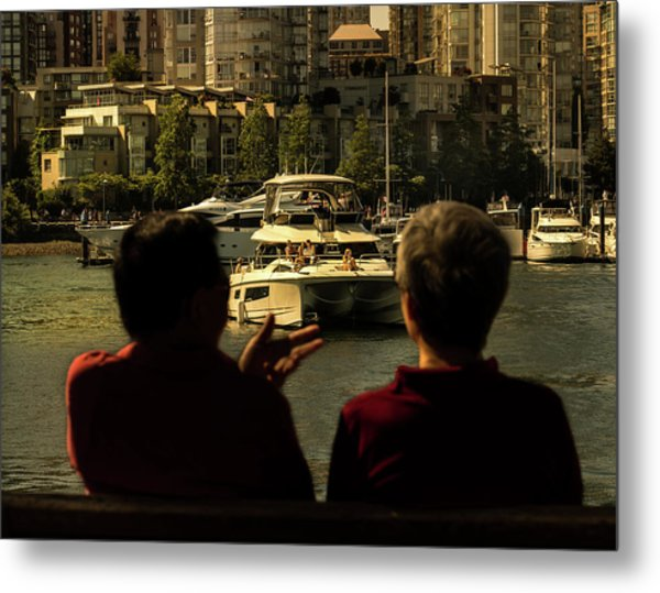 Two Friends At The Vancouver Bay Metal Print