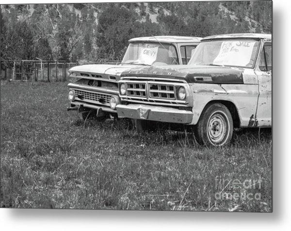 Two Old Pickup Trucks Utah Metal Print