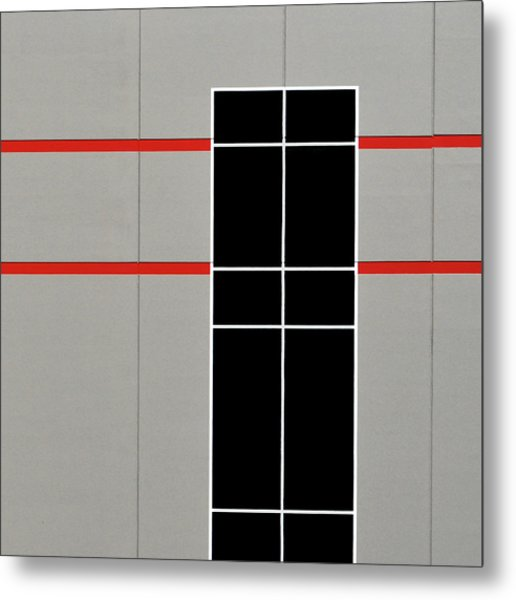 Two Red Stripes Metal Print