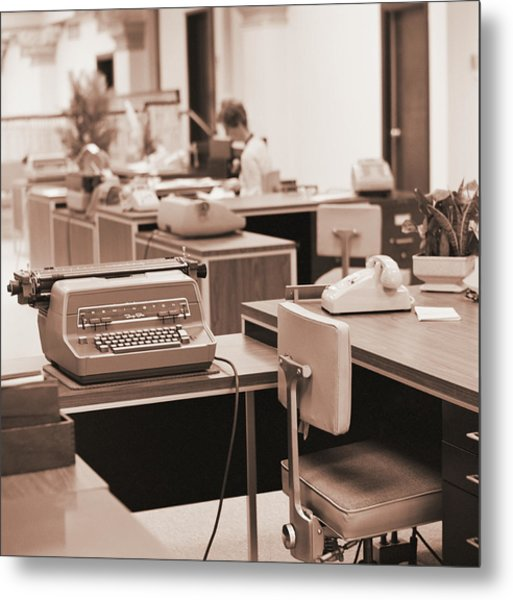 Typing Pool Workstation Metal Print by H. Armstrong Roberts