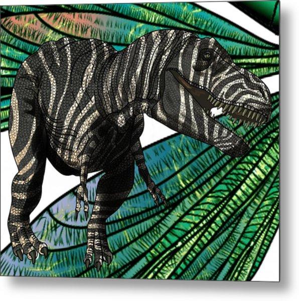 Tyrannosaurus Takes Wings Metal Print