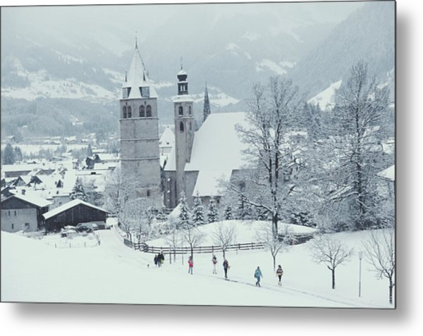Tyrolean Churches Metal Print by Slim Aarons
