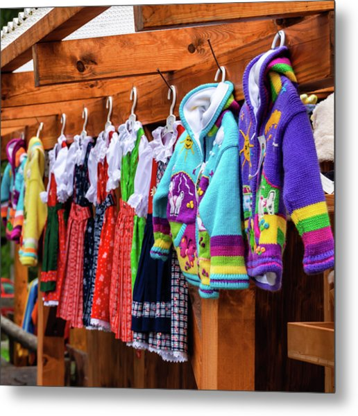 Tyrolean Fashion For Kids Metal Print