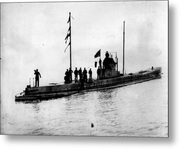 U-boat Metal Print by Topical Press Agency