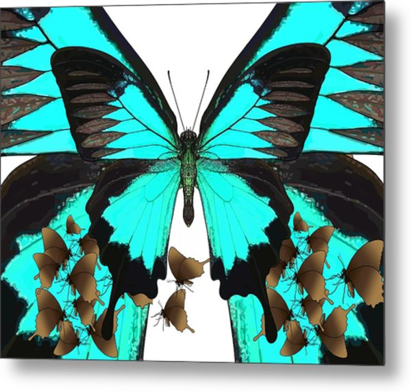 U Is For Ulysses Butterfly Metal Print