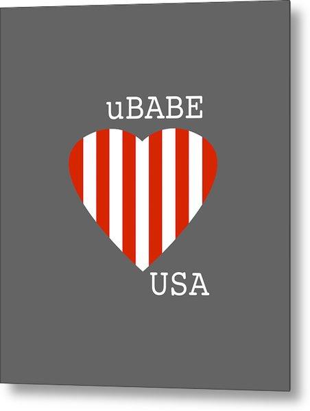 uBABE USA Metal Print