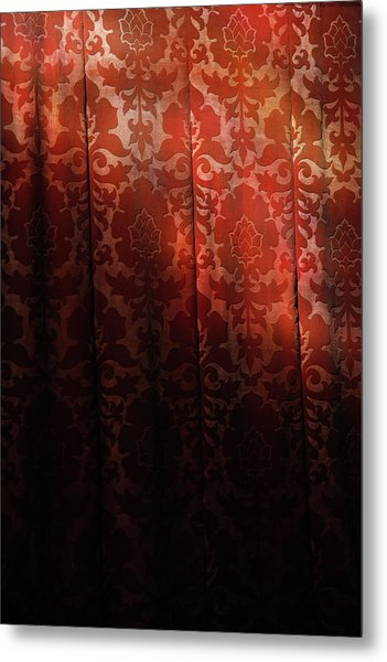 Uk, England, Oxford, Light On Red Fabric Metal Print by Westend61