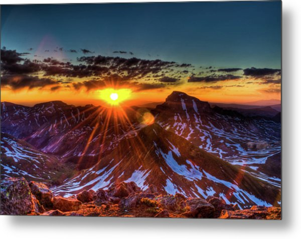 Uncompahgre At Sunrise Metal Print by Photo By Matt Payne Of Durango, Colorado