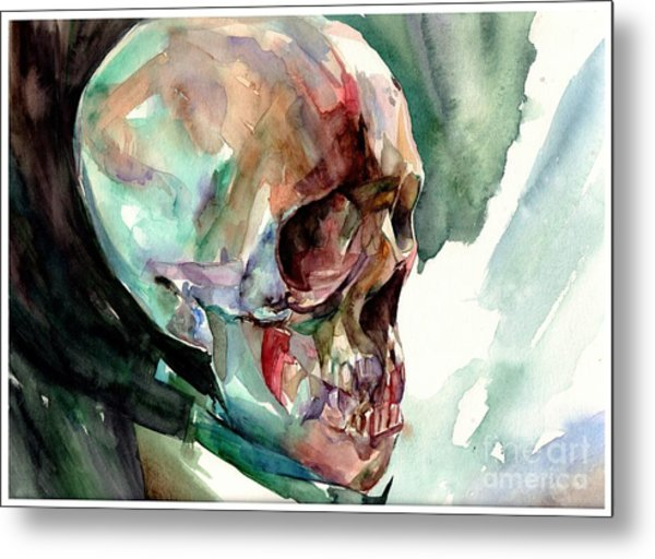 Unconfirmed Skull Metal Print