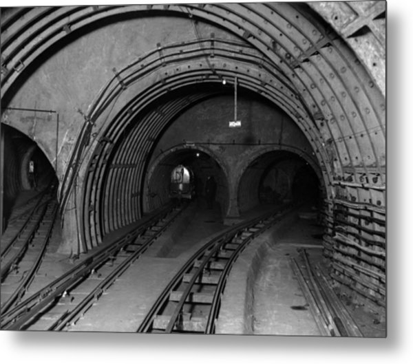 Underground Mail Metal Print by E. Bacon
