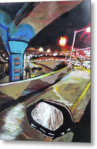 Underpass At Nighht Metal Print