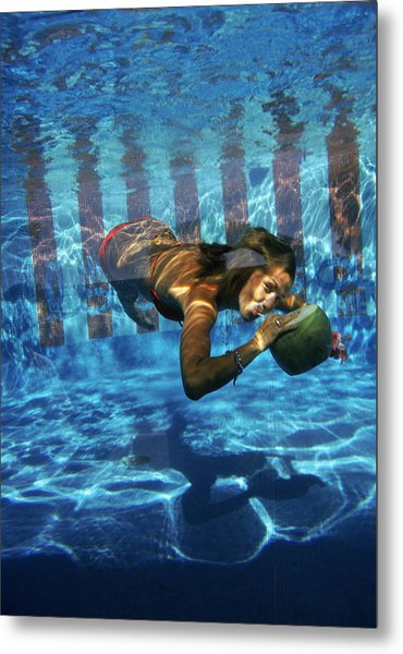 Underwater Drink Metal Print by Slim Aarons
