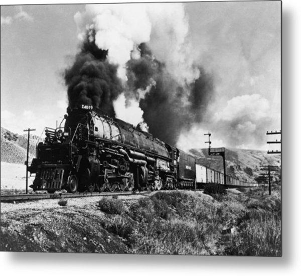 Union Pacific Train Metal Print by Gabriel Hackett