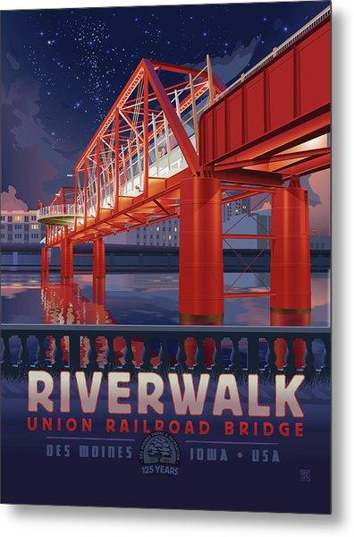 Union Railroad Bridge - Riverwalk Metal Print