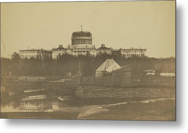 United States Capitol Under Construction Metal Print