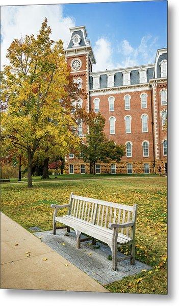 University Of Arkansas Autumn At Old Main Metal Print