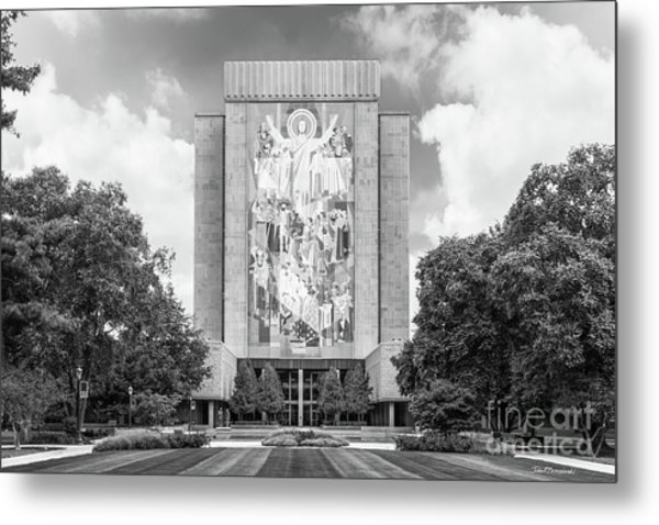 University Of Notre Dame Hesburgh Library Metal Print