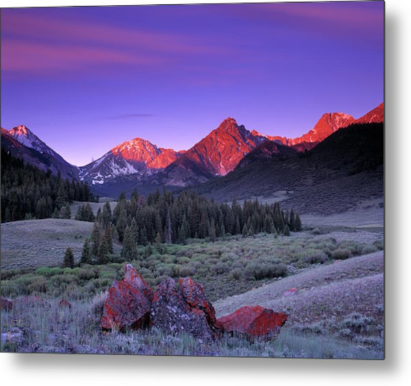 Upper Pahsimeroi Metal Print by Leland D Howard