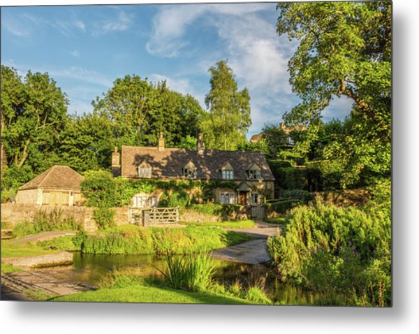 Upper Slaughter, Gloucestershire Metal Print by David Ross