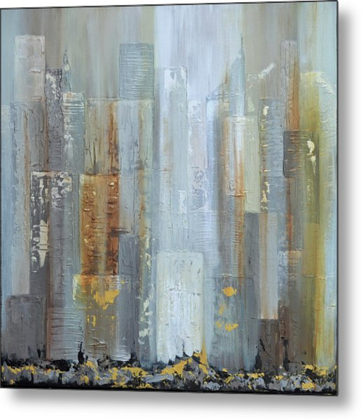Urban Reflections I Night Version Metal Print