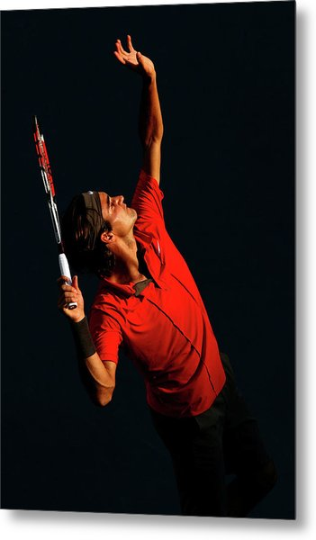 U.s. Open - Day 9 Metal Print by Al Bello