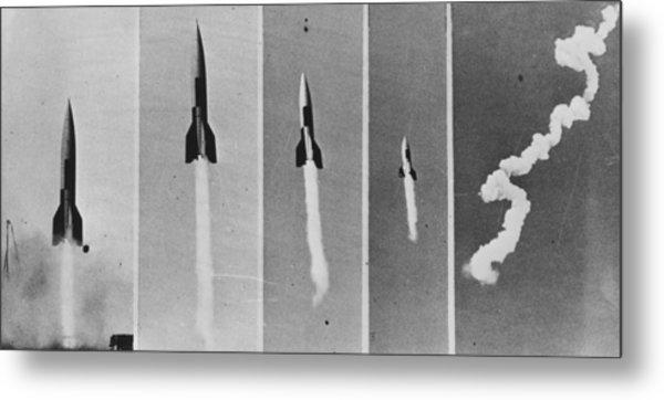 V-2 Bomb In Flight Metal Print by Keystone